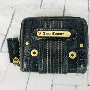Juicy Coutour Leather Zip Around Square Wallet